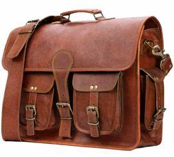 Vintage Style Real Leather Bag Satchel S Messenger Briefcase