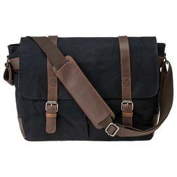 "Waterproof Canvas 15.6"" Laptop Messenger Bag Men Business Vi"