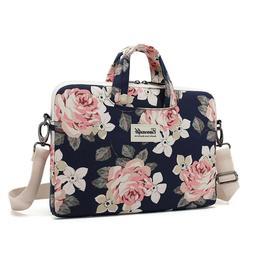 Canvaslife Laptop Shoulder Messenger Bag Rose Patten Waterpr