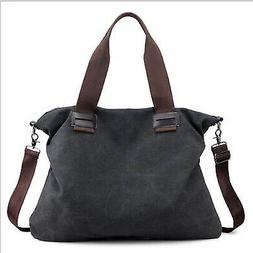 Women Canvas Bags Shoulder Tote Messenger Hobo Satchel Bag C