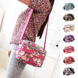 Women Canvas Floral Messenger Cross Body Handbag Shoulder Ba