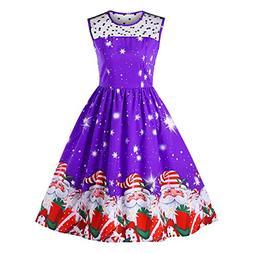 kaifongfu Women Christmas Dress for Evening Party Vintage La