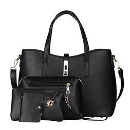 YJYDADA 4PC Fashion Women Crossbody Bag Shoulder Bag Messeng