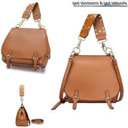 Women Genuine Leather Top Handle Handbags Shoulder Purse Cro