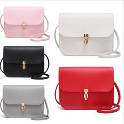Women Girl Tote Messenger Bags Lady PU Handbag Cross Body Ba