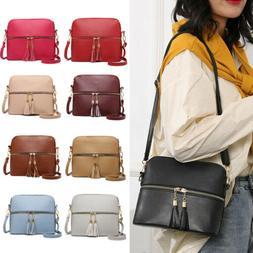 Women Handbag Leather Satchel Shoulder Bag Tote Ladies Messe