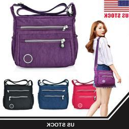 Women Handbag Nylon Canvas Shoulder Bag Messenger Crossbody