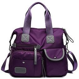 YouNuo Women's Top Handle Handbag Nylon Laptop Crossbody Bag
