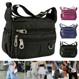 Women Ladies Multi Pocket Messenger Handbag Cross Body Bags