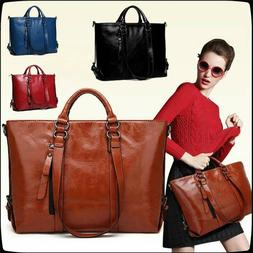 Women Large Leather Handbag Shoulder Bags Tote Purse Messeng