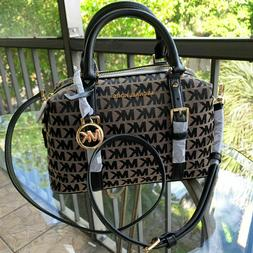 Michael Kors Women Leather Crossbody Satchel Bag Handbag Pur