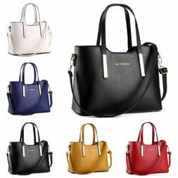 Women Leather Handbag Messenger Shoulder Bag Ladies Purse To