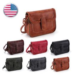 Women Leather Handbag Shoulder Hobo Purse Messenger Crossbod