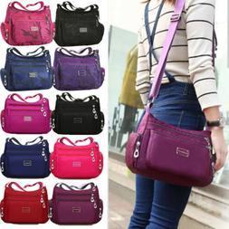 Women Multi Pocket Messenger Cross Body Handbag Ladies Hobo
