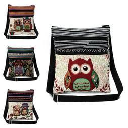Women Owl Messenger Bag Crossbody Shoulder Bag Satchel Purse