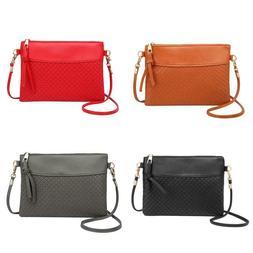 Women Plaid Envelope Handbags Crossbody PU Leather Messenger