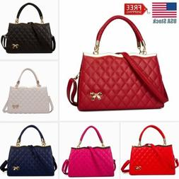 Women PU Leather Handbag Shoulder Bag Ladies Purse Messenger