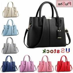 Women PU Leather Handbag Tote Purse Messenger Crossbody Shou