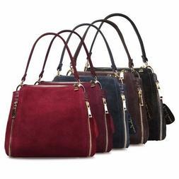 Women's Bags Handbags Suede Leather Handbag Bucket Messenger