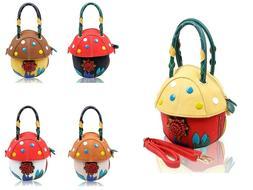 Women's Cute Mushroom Shape Top-Handle Handbag For Girls Sho
