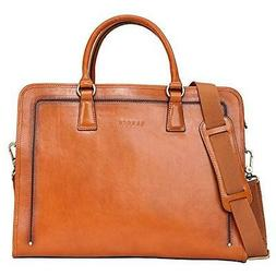 Banuce Women's Full Grains Leather Briefcase Messenger Satch
