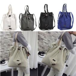 Women's Girls Canvas Handbag Shoulder Messenger Bag Lady Sat