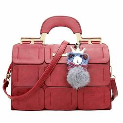 Women's Handbags Leather Messenger Bag Luxury Top-Handle Fem
