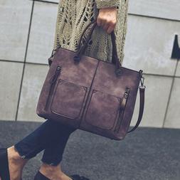 Women's Leather Shoulder Bag Handbag Lady Large Messenger Cr