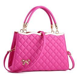 Women's PU Leather Handbags Satchel Shoulder Bags Tote Messe