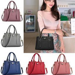 Women's PU Leather Handbags Shoulder Messenger Satchel Tote