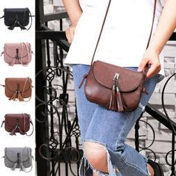 Women Tassel Handbag Satchel Messenger Cross Body Leather Sh