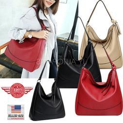Women Tote Bag Leather Bags Handbag Shoulder Hobo Purse Mess