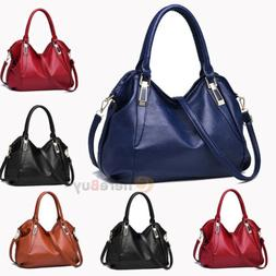 Women Tote Leather Shoulder Bag Handbag Messenger Crossbody