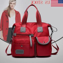 Women Waterproof Nylon Shoulder Bags Messenger Bag Large Cap
