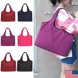 Womens Big Shoulder Bags Nylon Messenger Hobo Handbags Bag W