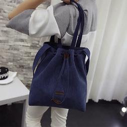 Womens Canvas Handbag Shoulder Bags Tote Purse Travel Large