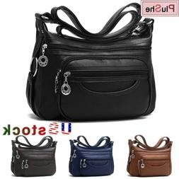womens casual soft pu leather shoulder bag